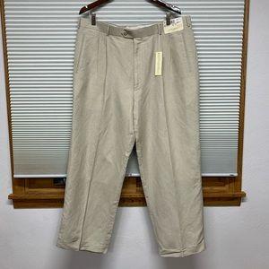 NWT Louis Raphael beige fine linen rayon pants